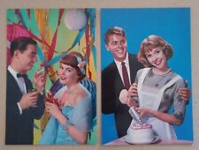 Lot of 2 Vintage Postcards Party Domestic Young Couples Smoking '50's Perfection