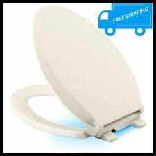Kohler Biscuit Elongated Toilet Seat Quiet Close Lid Grip Tight Led Night Light