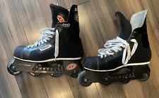 Bauer Pro Off Ice Hockey Inline Roller Blades Skates Sz 10 Nice Shape