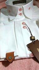 NWT Bogosse Prive&Femme women's size 5 or XL long sleeve button down shirt, stri