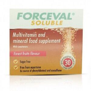 Forceval Soluble Adult/Junior Multivitamins & Minerals Food Supplement 30 Tablet