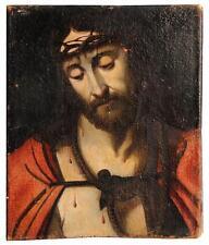 Huile sur toile représentation de Jésus Christ époque XVIIème