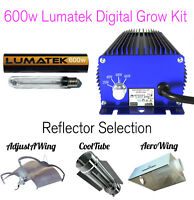 600w Lumatek Digital Grow Kit - Ballast, Bulb & Reflector / Cooltube / Aerowing