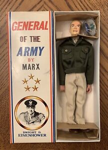 Vintage Marx General of the Army Dwight D. Eisenhower Ike Box RARE