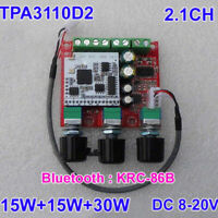 TPA3110 Class D Bluetooth Power Amplifier Board 30W+2x15W 2.1 bass Amp DC 12FW