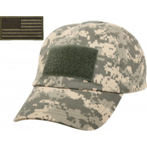 Contractor Hat with Removable Flag Patch Digital Camo  Color Voodoo Tactical