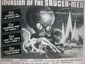 1957 pressbook Supplement.. Vintage Original ' Saucer-Men '