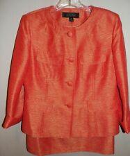 Women's 8P Skirt Suit Orange & Gold Kasper Jacket skirt suit