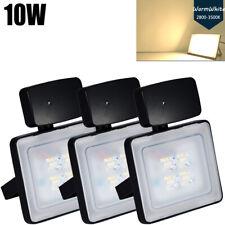 3X 10W Warm White Microwave Sensor LED Flood Light Outdoor Garden FloodLight Gym