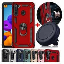 For Samsung Galaxy A21 Case Shockproof Rugged Holster Hard Cover+Car Mount Stand