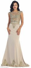 NEW RED CARPET FORMAL EVENING LONG GOWNS DESIGNER DEMURE MAXI DRESS PAGEANT PROM
