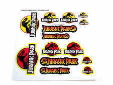 JURASSIC PARK 'DIE CUT' STICKERS - CLASSIC & EXPLORER LOGO'S - 14 IN TOTAL!