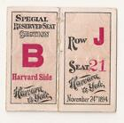 Football+ticket+stub-+November+23%2C+1894-++Yale+vs.+Harvard