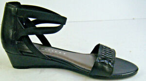 Studio W by David Jones Wedge Leather Sandal Shoes with Ankle Strap RRP: $89.95