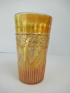 """Antique Jain Indian Carnival Glass Tumblers Grapevine And Spikes Variant """"F04"""