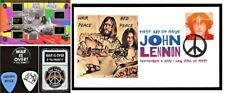 Beatles John Lennon Worn Clothing Peace Bed-in Display Guitar Picks + Coin + FDC