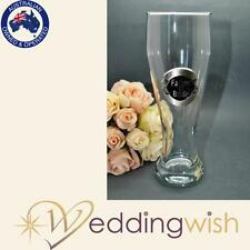 Best Man Pilsner Glass with Black and Silver Plaque