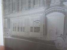 Old Glass Negative Circa 1930's VINS CAFE RESTAURANT +Part Vintage Cars   §N20