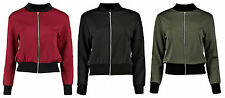 Women's Polyester Cropped Biker Coats & Jackets