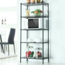 5 Tier Assembled Standing Steel Storage Rack Shelves Adjustable Heavy Duty