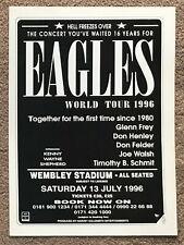 THE EAGLES - WEMBLEY STADIUM 1996 Full page UK magazine ad
