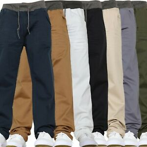 Boys Jeans Elasticated Waist Kids Stretch School Chino Trousers Pants 7 - 15 yrs