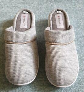 New Damart Ladies Mule Slippers Size UK 3E Grey
