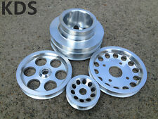 Underdrive Pulley Kit FOR 90-93 Nissan 300ZX 3.0L Z32 VG30DE 4pcs