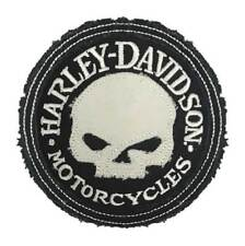 Harley-Davidson Genuine Willie G Skull Frayed Emblem Patch, 3.5 in. HDEMF1016
