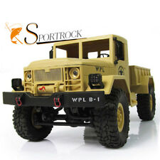 1:16 RC Crawler Military Truck Off Road Car 4WD 2.4G Remote Control Motorcycle