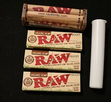 3 PACKS RAW ORGANIC ROLLING PAPERS 1 1/4 SIZE +   Rolling Machine 79mm FREE TUBE