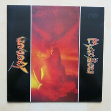 """VENOM Manitou UK 12"""" single with rare sticker and flyer Neat Records 1984"""