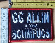 GG ALLIN AND THE SCUMFUCS OFFICIAL PATCH WIFE BEATER MENTORS