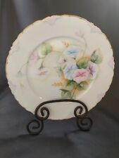 "RC Ph Rosenthal Versailles Bavaria Floral Morning Glories 10"" Plate Signed Foley"