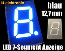 "10x LED 7-Segment Ziffernanzeige blau 12,7mm 0,5"" Display gem. Anode(+)"