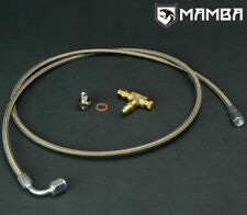 Universal 100cm 7/16-24 Garrett TB25 TB28 JB turbo oil feed line w/ 1/8NPT Tee