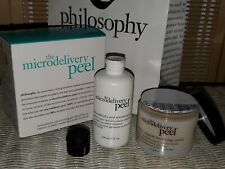 New! Philosophy The Microdelivery Peel Resurfacing System Crystals Gel 4oz Each!