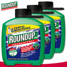 Roundup Unkrautfrei 3 x 2,5L Speed Fertigmischung Giersch Ampfer +