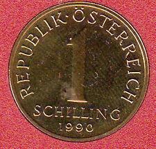 AUSTRIA 1 SCELLINO SCHILLING 1990 #8418