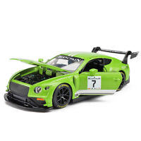 Bentley Continental GT3 1:32 Scale Model Car Diecast Gift Toy Vehicle Kids Green