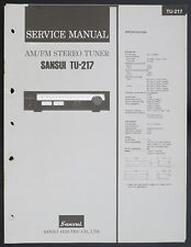 SANSUI tu-217 ORIGINAL AM/FM Stereo Tuner service-manual/Diagram + bulletin o151
