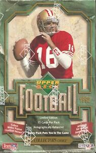 1992 Upper Deck Football Factory Sealed Box ~ Cards 36 Packs