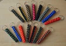 Paracord 550 Square Knot Lanyard/ Keyring for Keys, Tools (Choose Your Colour)