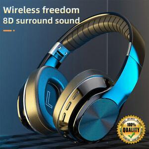 Wireless Bluetooth 5.0 Stereo Headset Over Head HiFi Headphones TF Card/FM Radio