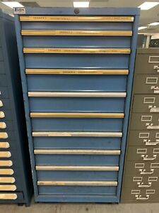 "Lista Tool/Equipment Storage Cabinet - 30"" Wide, 10 Drawers"