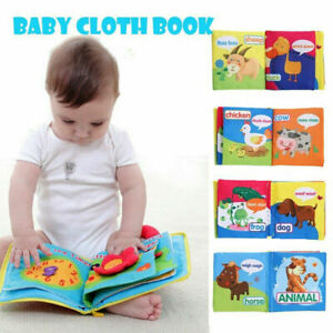 Soft Cloth Baby Book With Rustle Sound Toy Newborn Baby Educational Toys