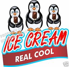 "Ice Cream Real Cool Decal 14"" Bars Concession Food Truck Cart Vinyl Menu Sticker"
