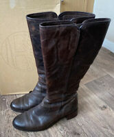Timberland T-OTARU Broen Leather Boots Knee Length Uk 6 EU39
