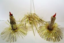 Vintage Gold Tinsel Candles Christmas Decorations Commodore No. 989C Japan