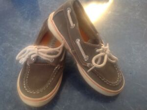Preschooler Unisex Boys Girls Sperry Top Sider Halyard green-brown boat Shoes10